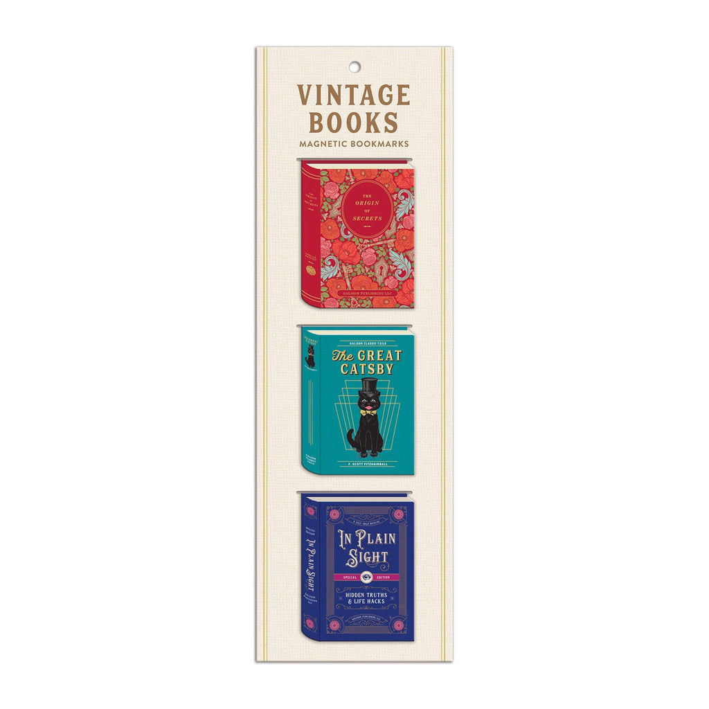 Vintage Books Shaped Magnetic Bookmarks Bookmarks Classic Vintage Collection