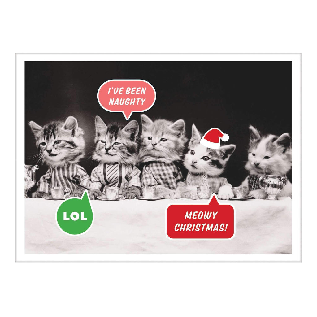 Vintage Cats Memes Half Note Holiday Notecards Galison