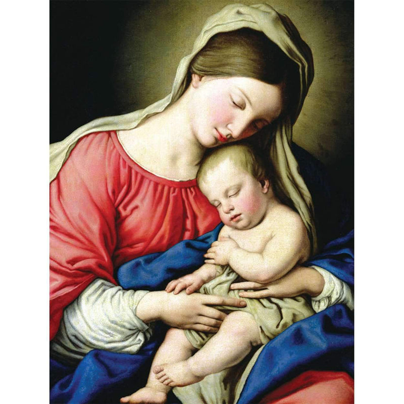 Virgin and Child Full Note Boxed Cards Holiday Notecards Galison