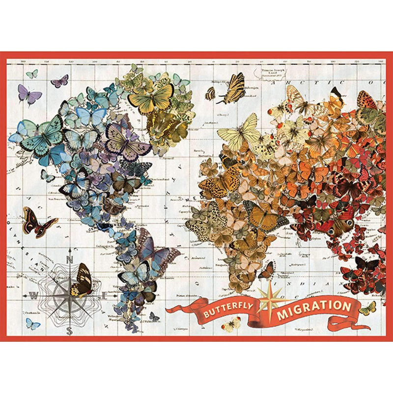 Wendy Gold Butterfly Migration 1000 Piece Puzzle 1000 Piece Puzzles Galison