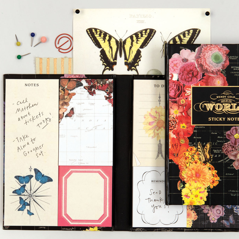 Wendy Gold Full Bloom Sticky Notes Hardcover Book Sticky Notes Galison