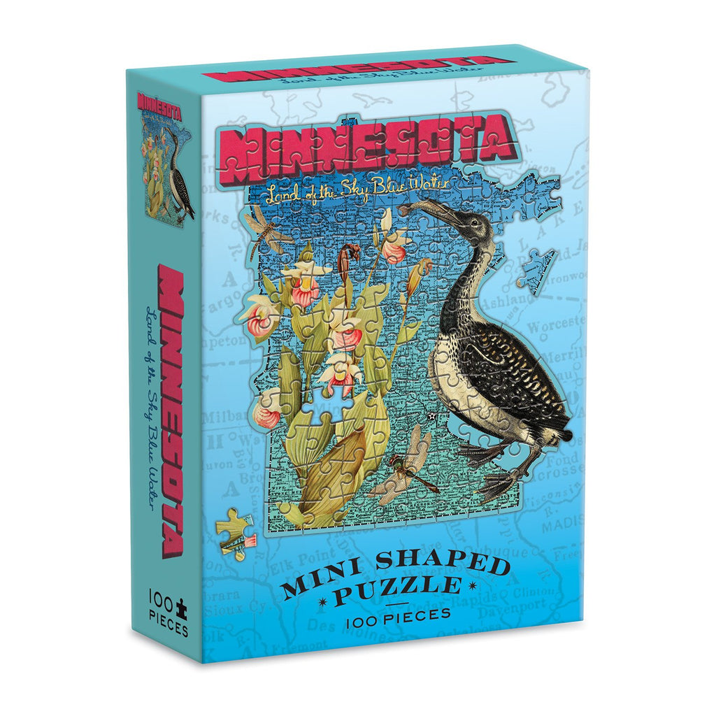 Wendy Gold Minnesota Mini Shaped Puzzle Mini-Shaped Puzzles Wendy Gold Collection