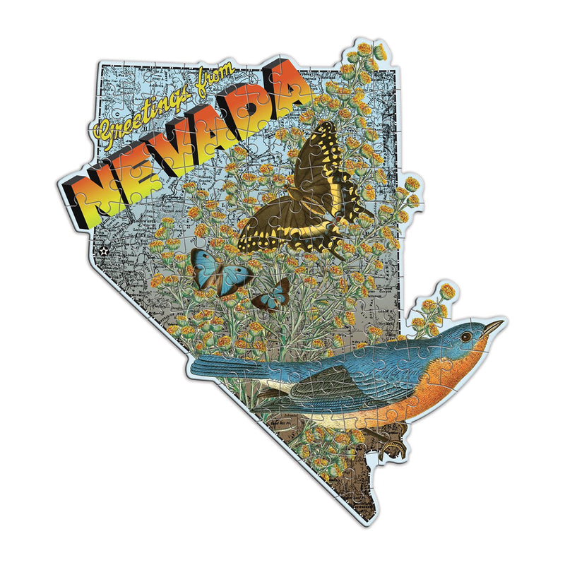 Wendy Gold Nevada Mini Shaped Puzzle Mini-Shaped Puzzles Wendy Gold Collection