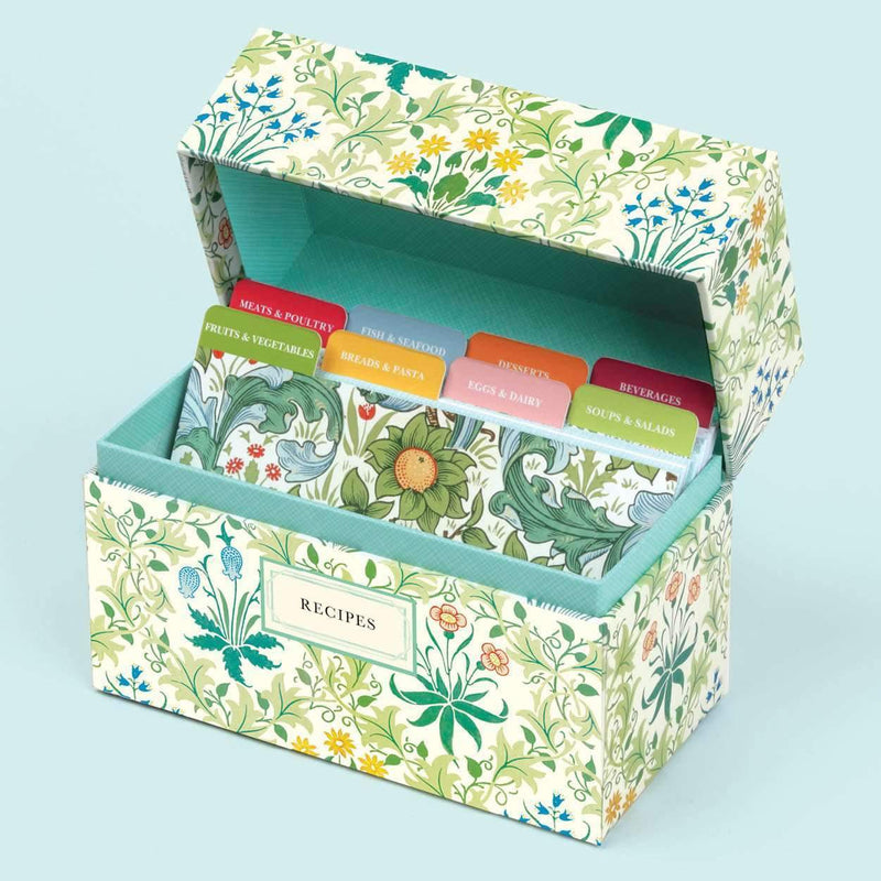 William Morris Recipe Box Recipe Boxes Galison