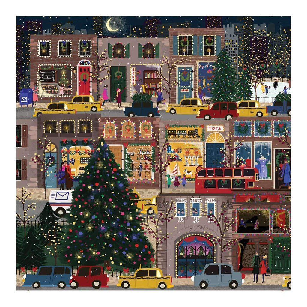 Winter Lights 500 Piece Puzzle holiday 500 Piece Puzzles Galison