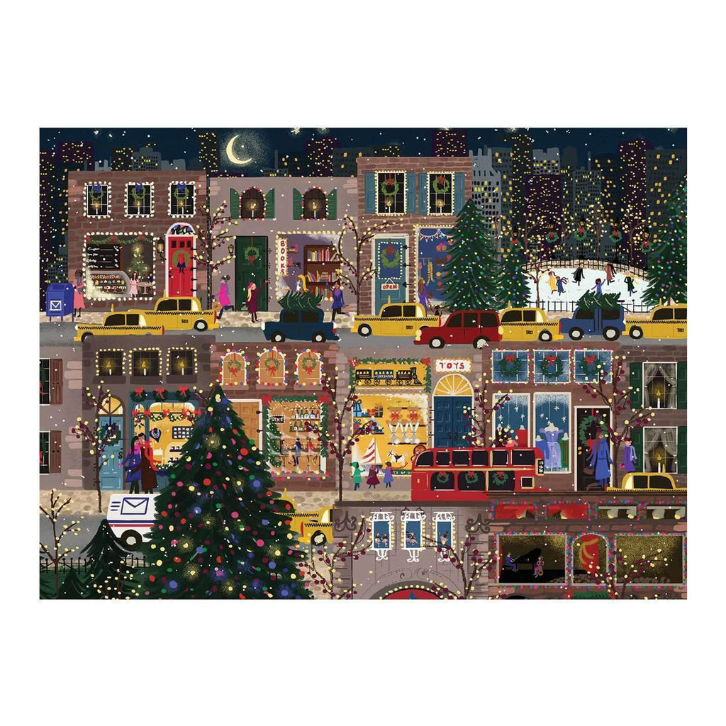 Winter Lights Large Embellished Notecards Holiday Notecards Galison
