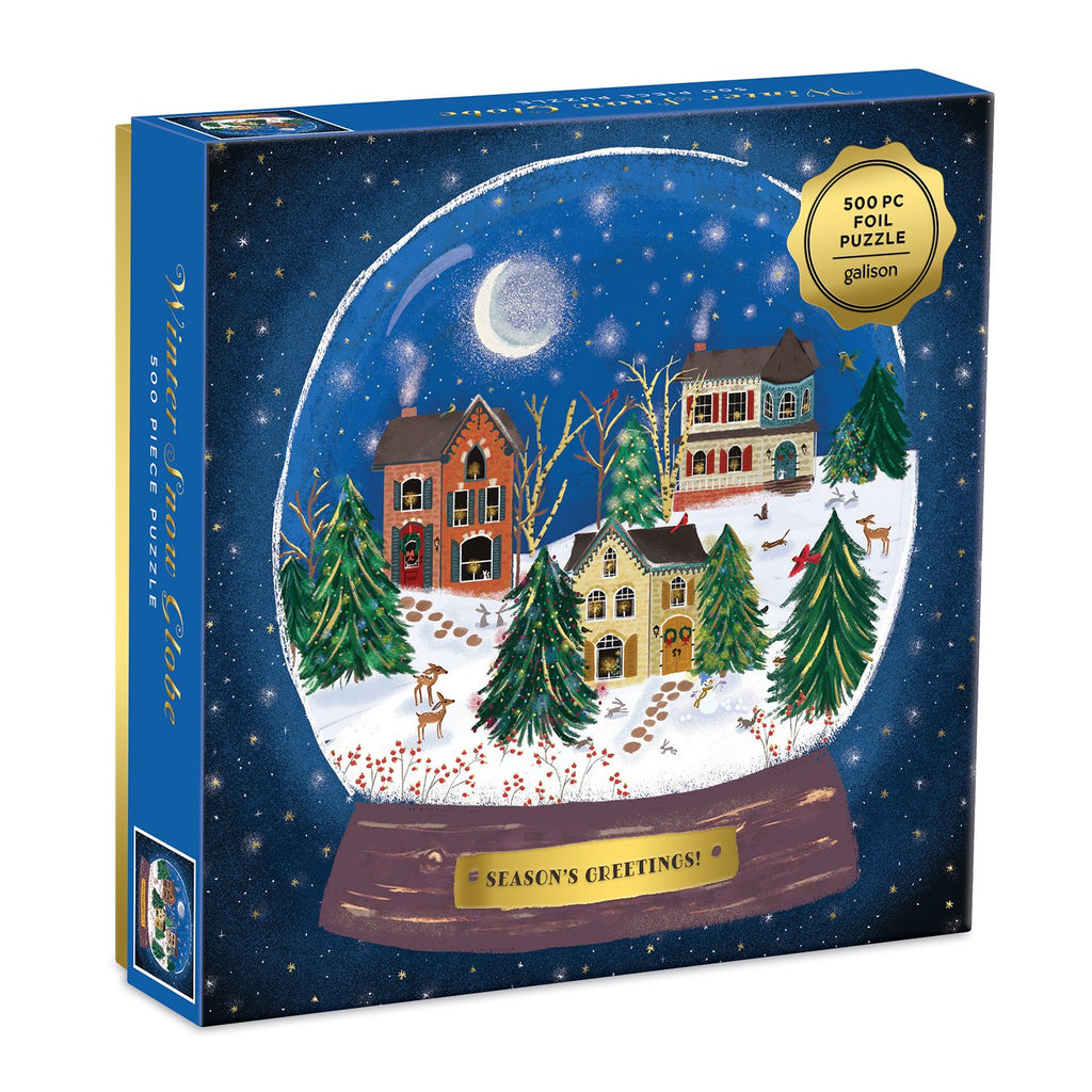 Winter Snow Globe 500 Piece Jigsaw Foil Puzzle holiday 500 Piece Puzzles Galison