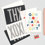 X Marks The Thought Notecards Thank You Cards Galison