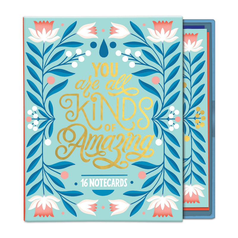 You Are All Kinds of Amazing Greeting Assortment Notecard Box Greeting Cards Galison