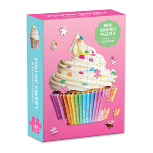 You're Sweet Cupcake 100 Piece Mini Shaped Puzzle Mini-Shaped Puzzles Galison