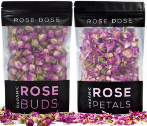 Load image into Gallery viewer, Organic Rose Buds + Rose Petals - Zaran Saffron