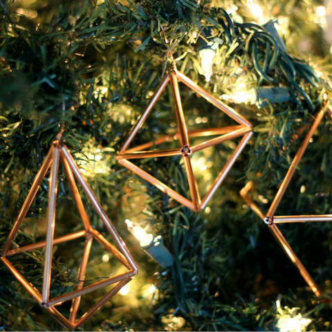 christmas ornament, west elm, gifts for friends, small gifts, copper decor, gifts for the home