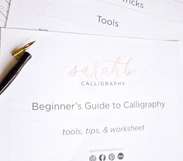 calligraphy guide, gifts for teen, gifts for her