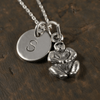 Gorilla Charm Necklace with Hand Stamped Pendant