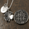 Four Leaf Clover Charm Necklace with Hand Stamped Pendant