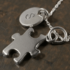Autism Awareness Charm Necklace with Hand Stamped Pendant