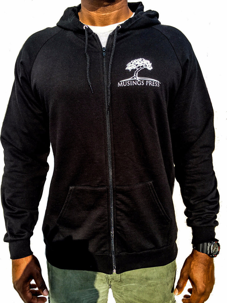 Musings Press California Fleece Zip Hoodie (Black)