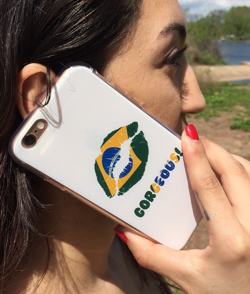 """Gorgeous!™"" (Brazil + White) iPhone Case"