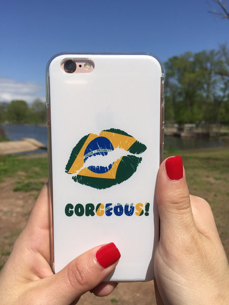 """Gorgeous!™"" (Brazil + White) iPhone Case (5/5s/Se, 6/6s, 6/6s Plus)"