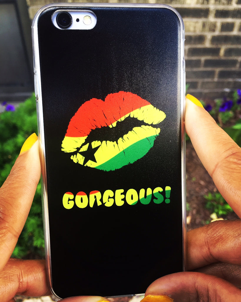 """Gorgeous!™"" (Ghana + Black) iPhone Case (5/5s/Se, 6/6s, 6/6s Plus)"