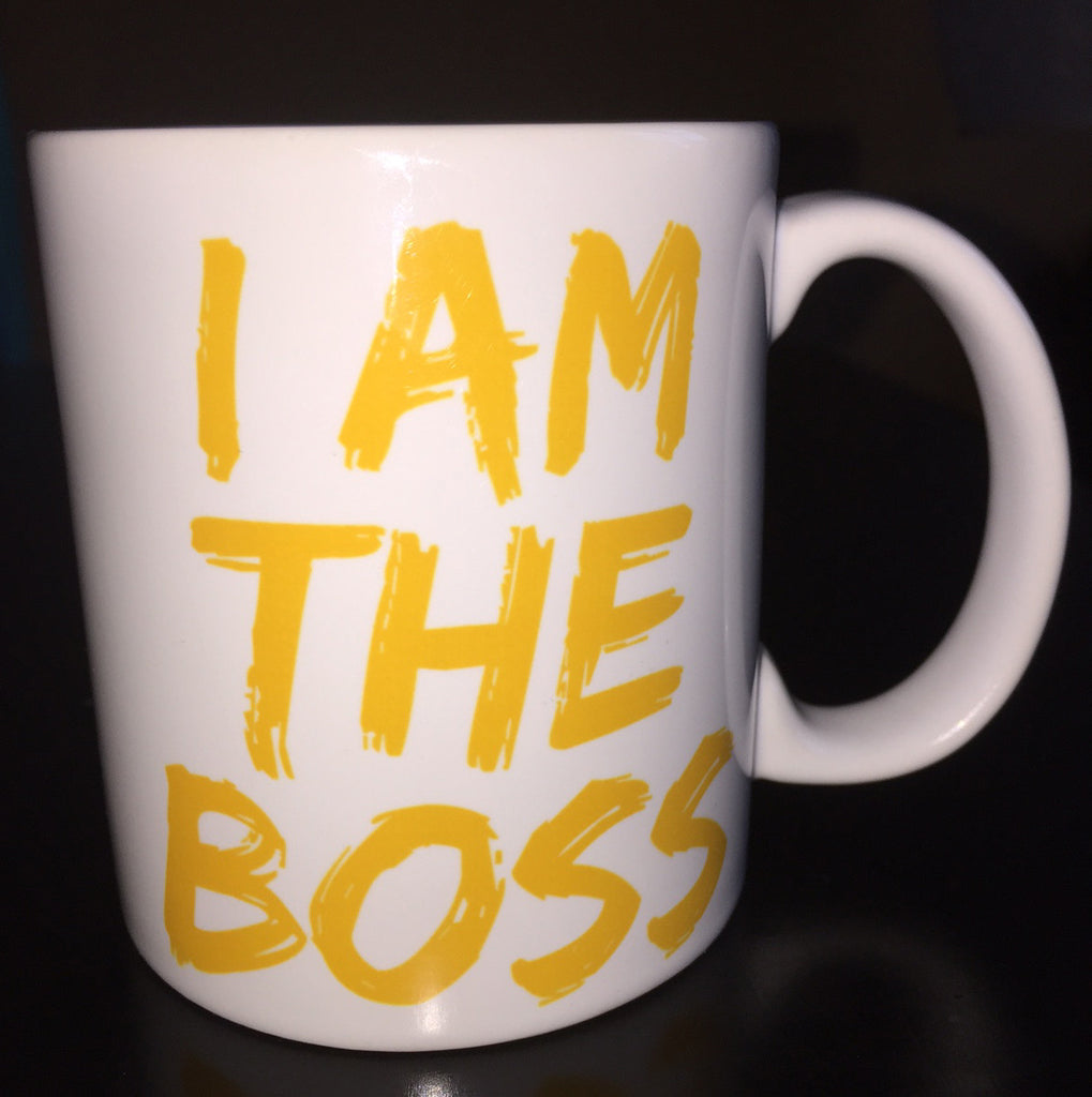 I am the Boss™ Mug (golden yellow lipstick)