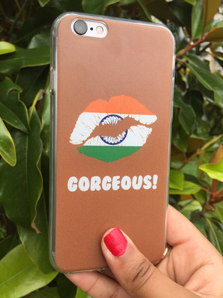 """Gorgeous!™"" (India + Brown) iPhone Case"