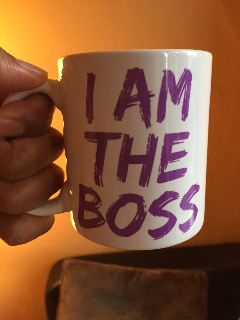 I am the Boss™ Mug (lavender lipstick)