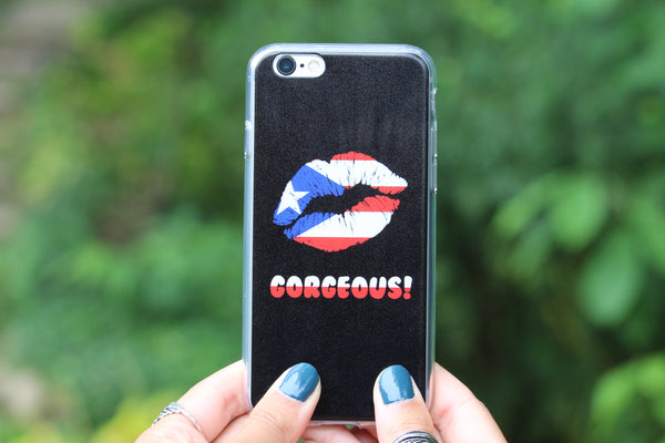 """Gorgeous!™"" (Puerto Rico + Black) iPhone Case (5/5s/Se, 6/6s, 6/6s Plus Case)"