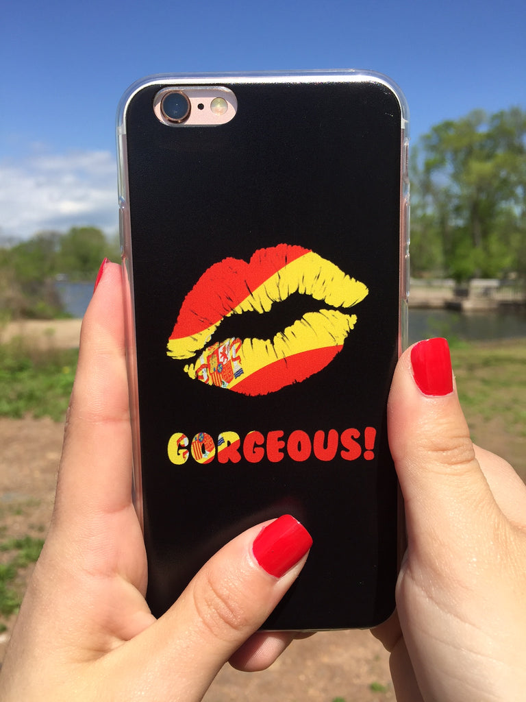"""Gorgeous!™"" (Spain + Black) iPhone Case (5/5s/Se, 6/6s, 6/6s Plus)"