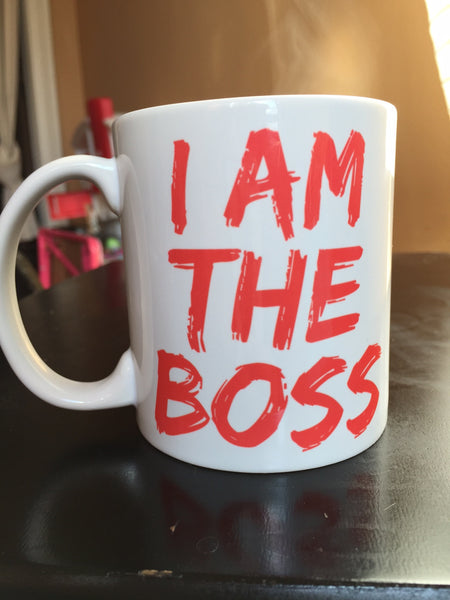 I am the Boss™ Mug (tropical pink lipstick)