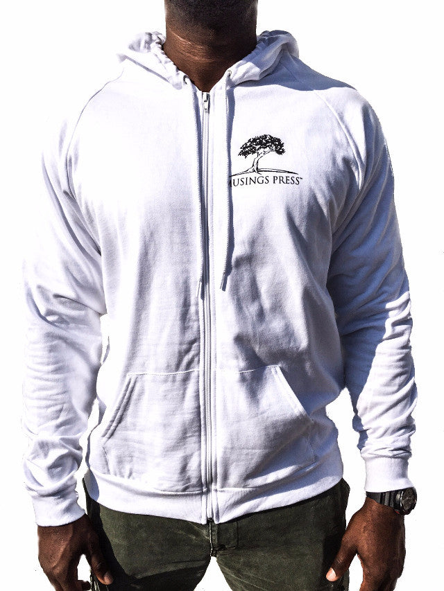 Musings Press California Fleece Zip Hoodie (White)