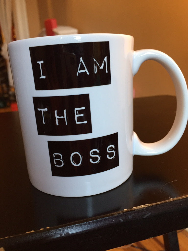 I am the Boss™ Mug (black beveled)