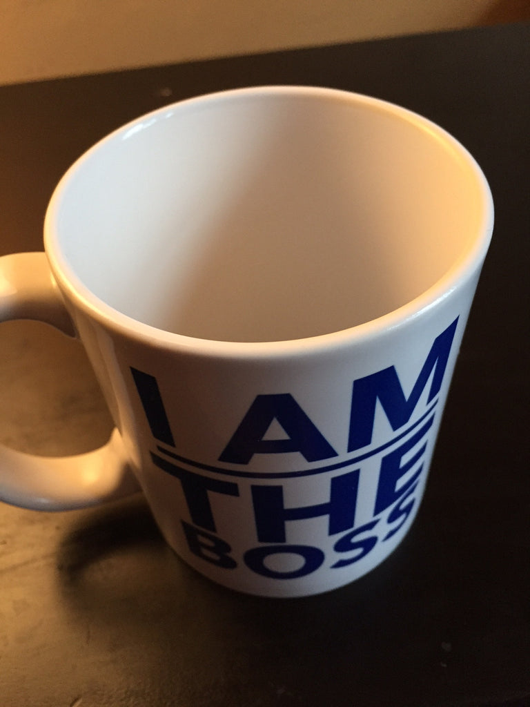 I am the Boss™ Mug (blue standard)