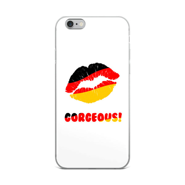 """Gorgeous!™"" (Germany + White) iPhone Case"