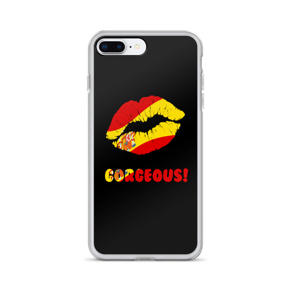 """Gorgeous!™"" (Spain + Black) iPhone Case"