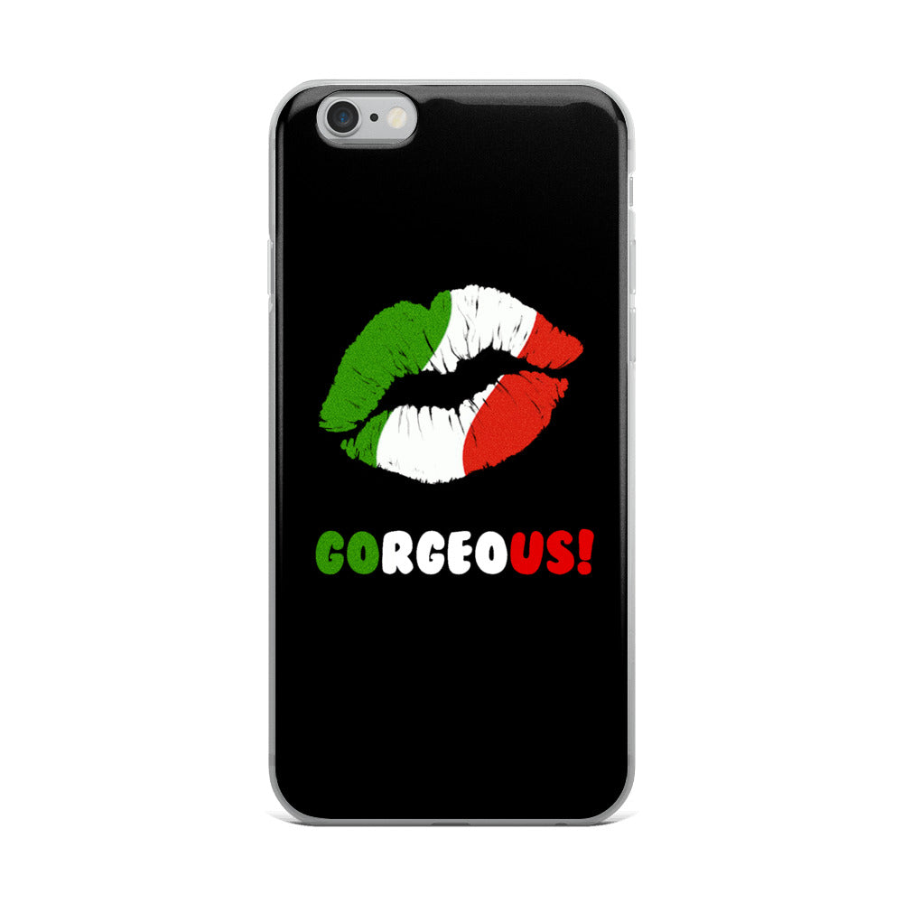 """Gorgeous!™"" (Italy + Black) iPhone Case"
