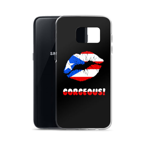"""Gorgeous!™"" (Puerto Rico + Black) Samsung Case"