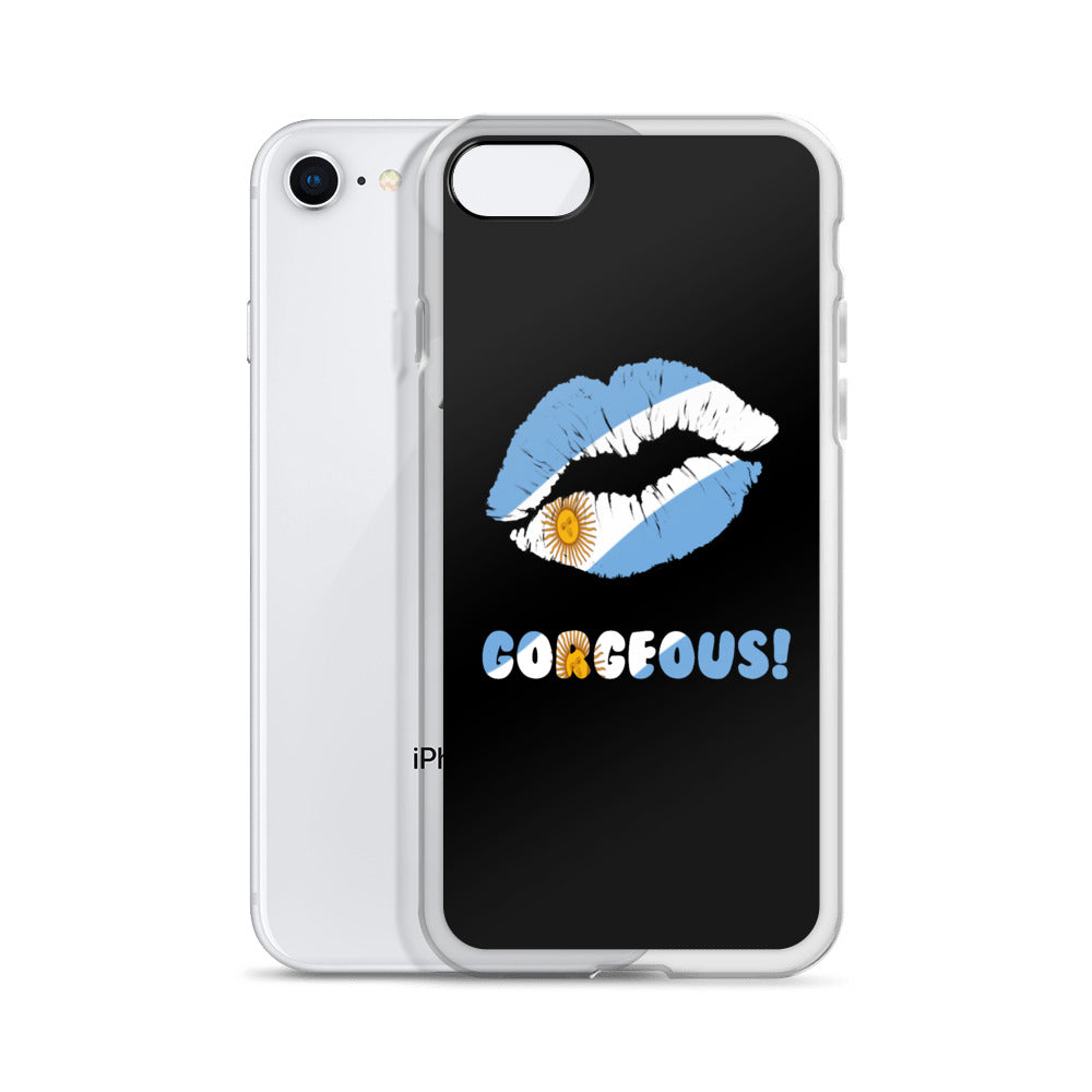 """Gorgeous!™"" (Argentina + Black) iPhone Case"