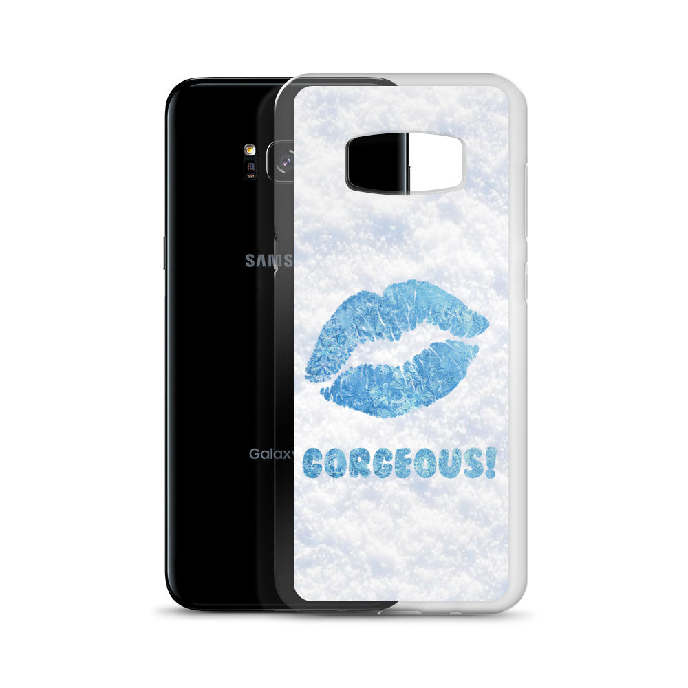 Gorgeous!™ Snow Background + Ice Lips Samsung Case