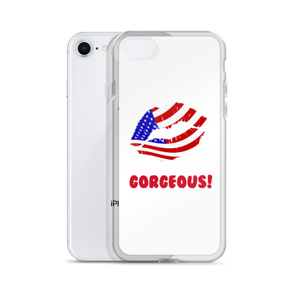"""Gorgeous!™"" (USA + White) iPhone Case"
