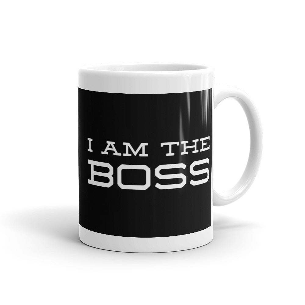 I am the Boss™ Mug (black trojan)