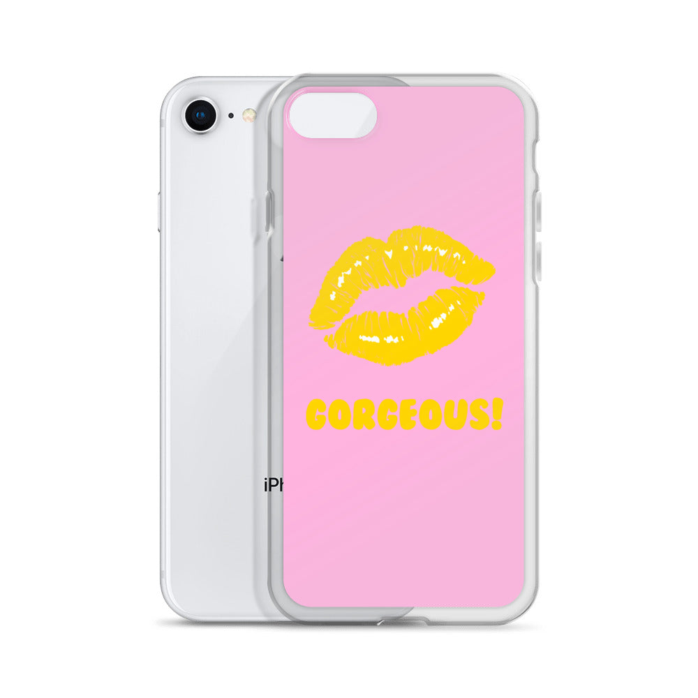 Gorgeous!™ Faint Pink + Golden Yellow Lips (Pink Lemonade) iPhone Case