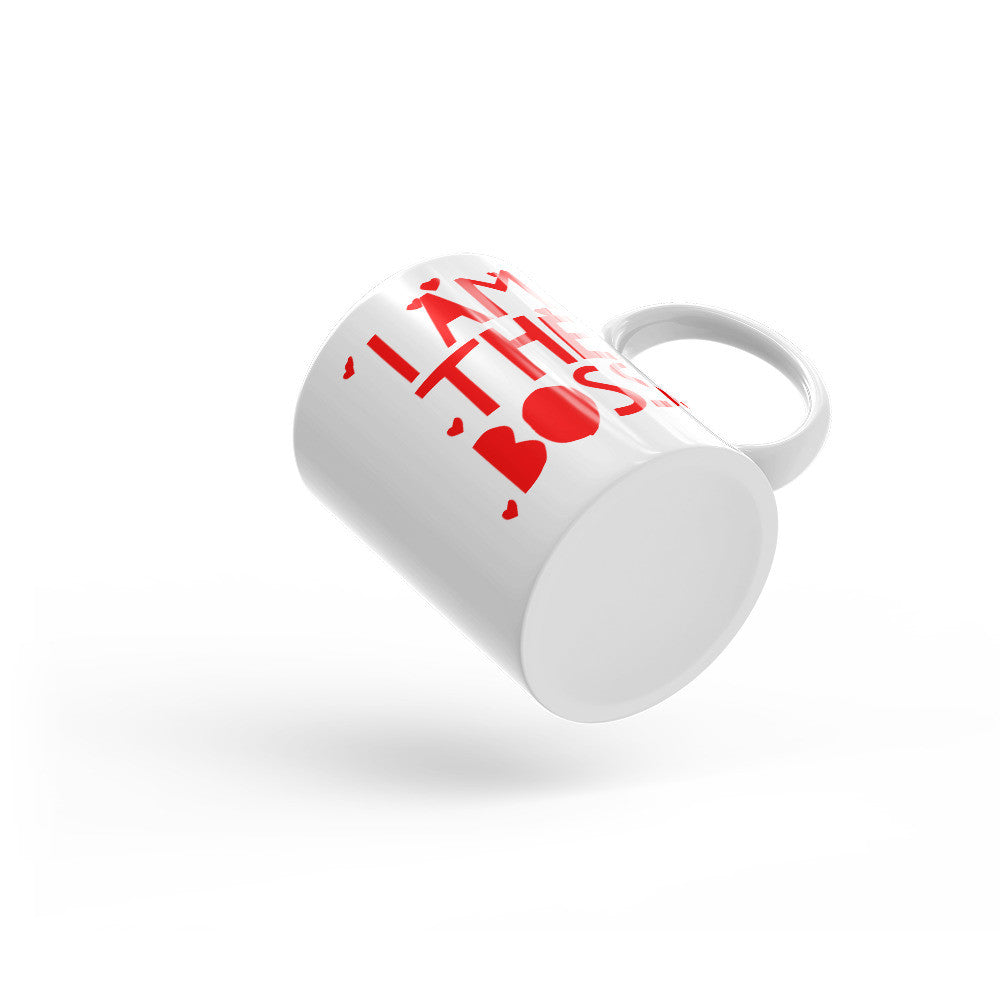I am the Boss™ Mug (red hearts)