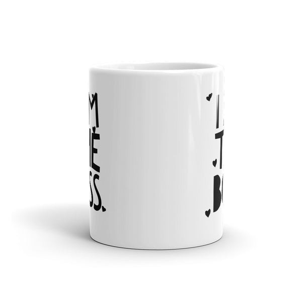 I am the Boss™ Mug (black hearts)