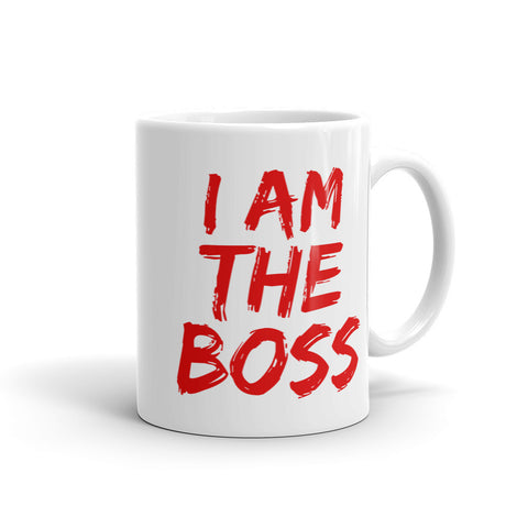 I am the Boss™ Mug (real red lipstick)