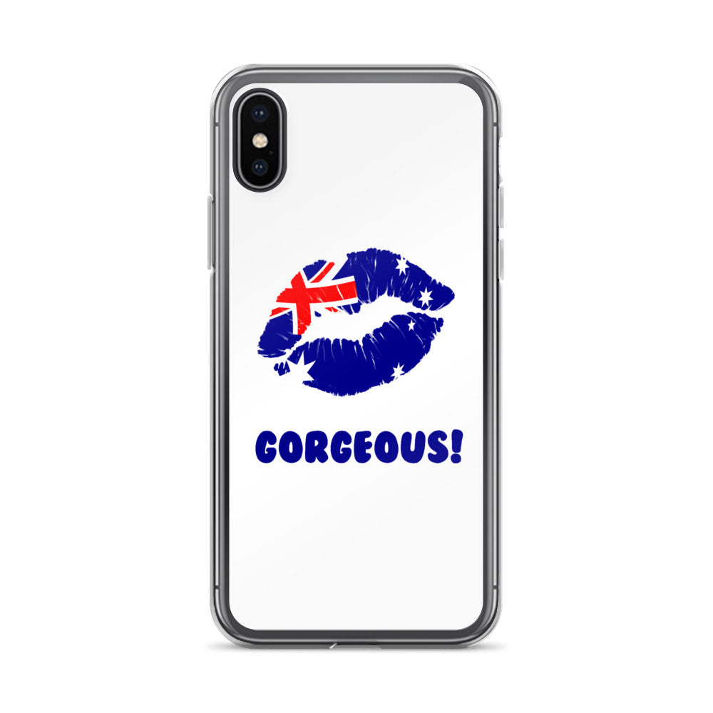 """Gorgeous!™"" (Australia + White) iPhone Case"