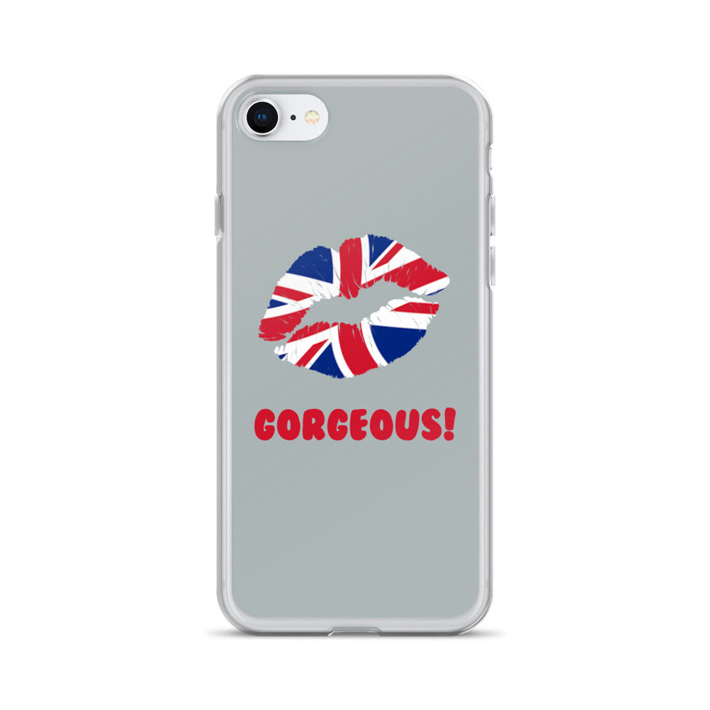 """Gorgeous!™"" (England + Grey) iPhone Case"