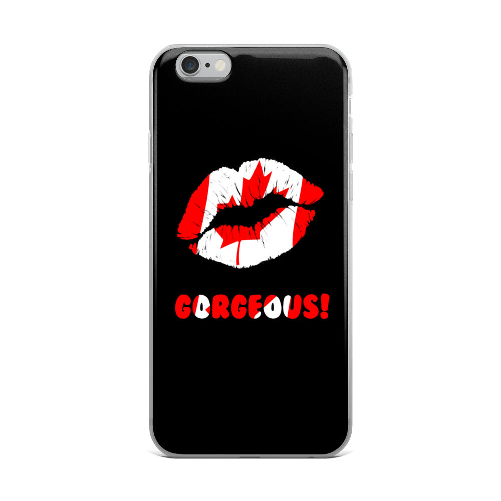 """Gorgeous!™"" (Canada + Black) iPhone Case"