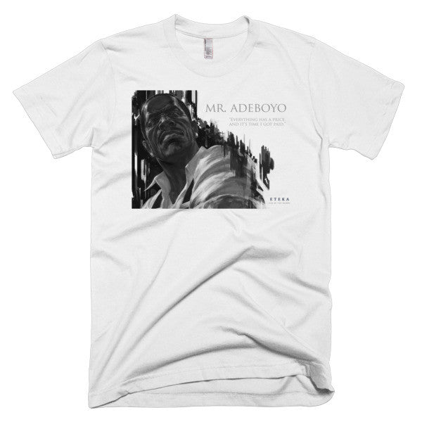 Mr. Adeboyo Character Profile Short sleeve Men's T-shirt