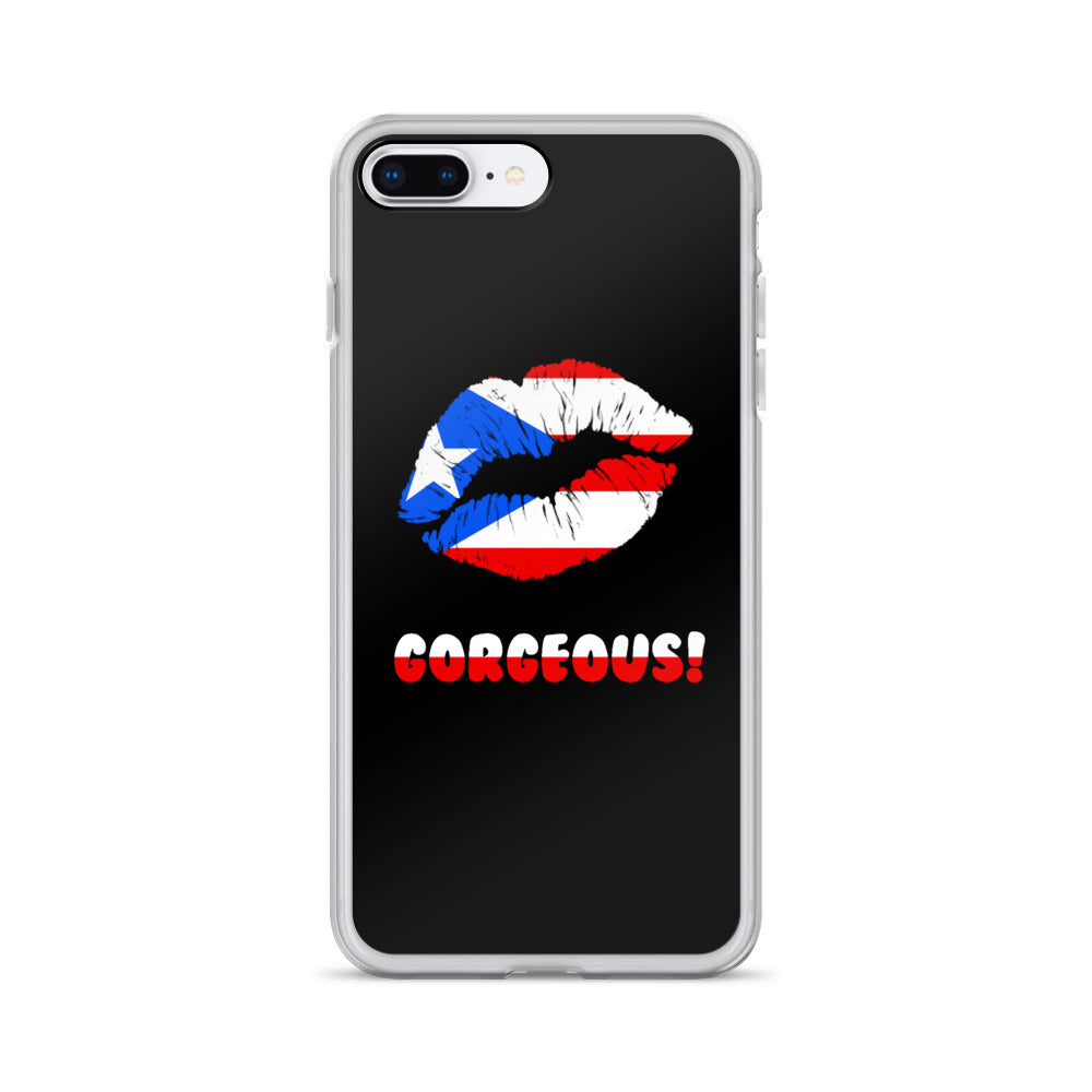 """Gorgeous!™"" (Puerto Rico + Black) iPhone Case"